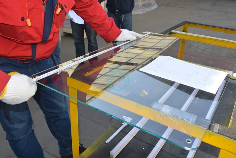Inspection points: Glass quality, Package, and Label.