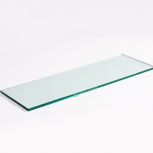 "China Clear 3/8"" Thickness Tempered Rectangle Glass Wall Shelves with Chrome Brackets Wholesale"