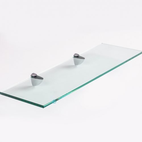 China Rectangle Toughened Shower Glass Shelves with Shelf Supports Wholesale