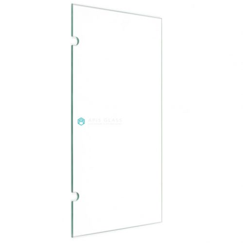 China clear tempered seamed edge frame shower door glass with safety corners wholesale