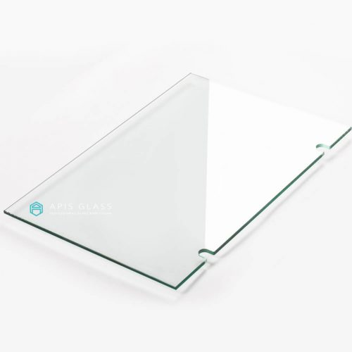 China toughened clear U notched frameless shower door glass wholesale