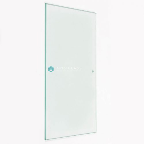 China frosted back painted tempered safety cutouts frameless shower door glass wholesale