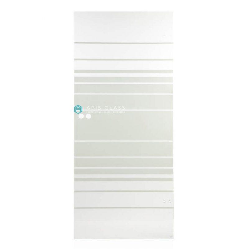 China ceramic painted tempered corner glass shower panels wholesale