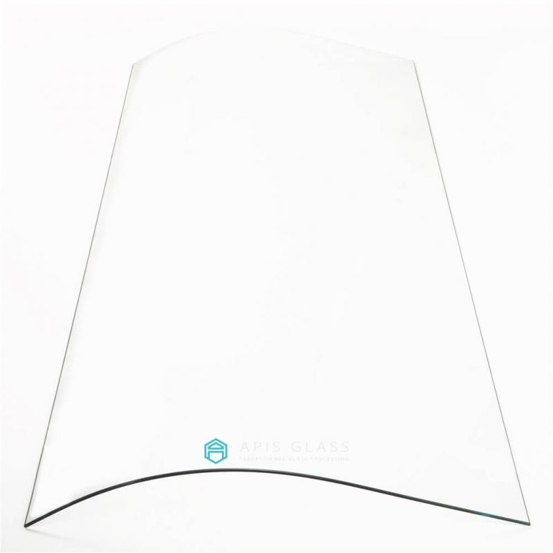 China J bend 5-8mm thickness tempered frameless shower cabin glass wholesale