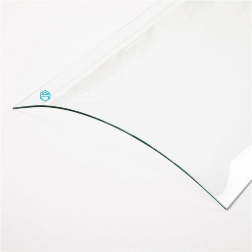 China C curved glass Toughened 5-8mm thickness framless doors wholesale