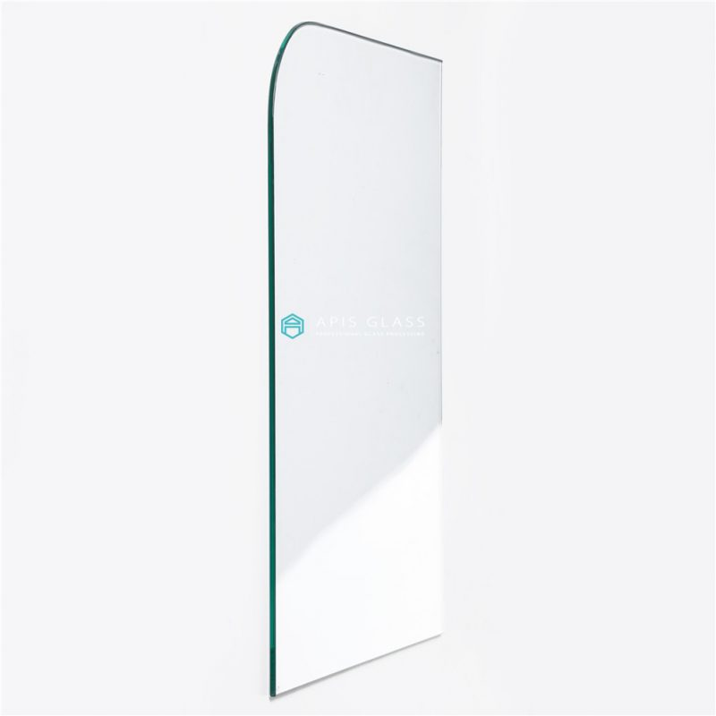 China Clear 6mm Tempered Frameless Bathtub Shower Screen Glass with R100 Corners Wholesale