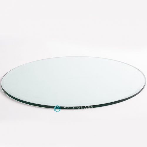 China Clear Round Chamfer Edges Polished Tempered Table Top Glass Wholesale