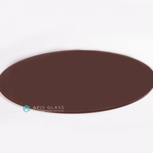 China Round Back Painted Pencil Polished Edge Tempered Table Top Glass Wholesale