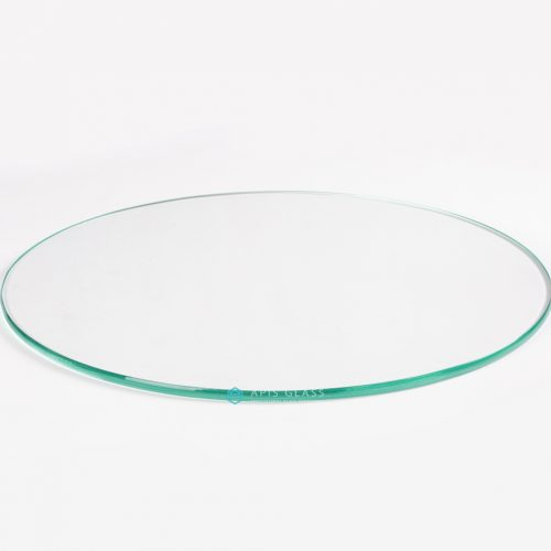 China Low Iron Glass Round Pencil Polished Edge Tempered Countertop Glass Wholesale