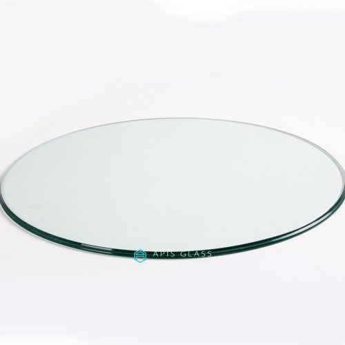 China Clear Round Ogee Polished Edge Tempered Table Cover Glass Wholesale
