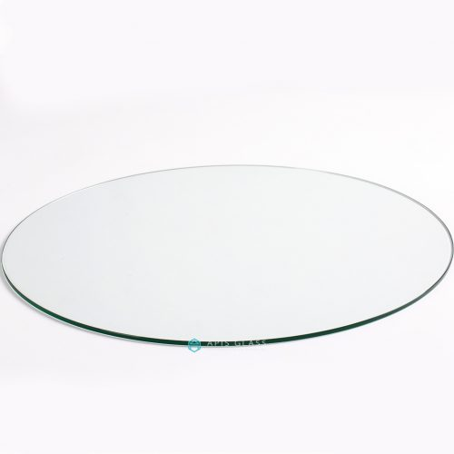 China Round Dining Table Top Glass Tempered Flat Polished Edge Wholesale