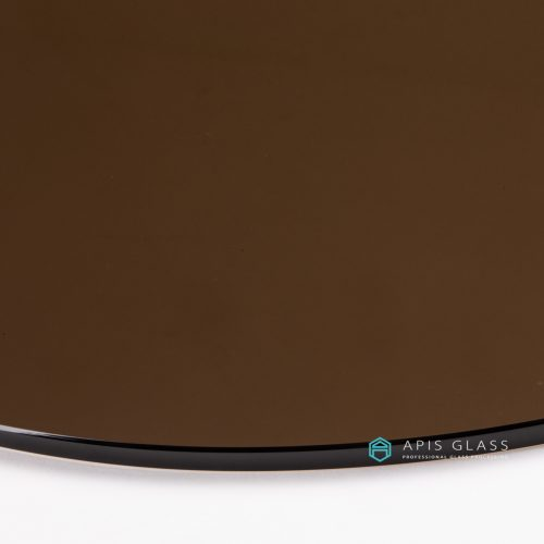 China Tinted Color Round Flat Polished Edge Tempered Table Top Glass Wholesale