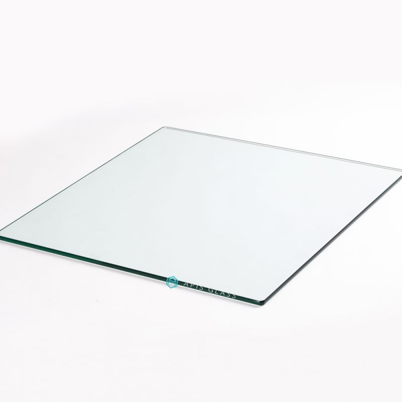 China Clear  Pencil Polished Edge Tempered Square Table Top Glass Wholesale