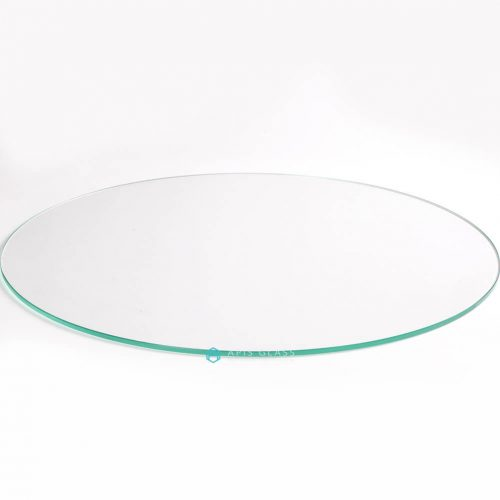 China Round Flat Polished Edge Toughened Coffee Table Top Glass Wholesale