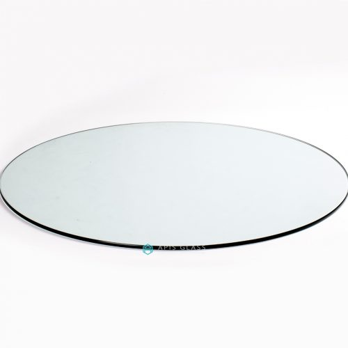 China Clear Round Pencil Polished Edge Toughened Coffee Table Top Glass Wholesale