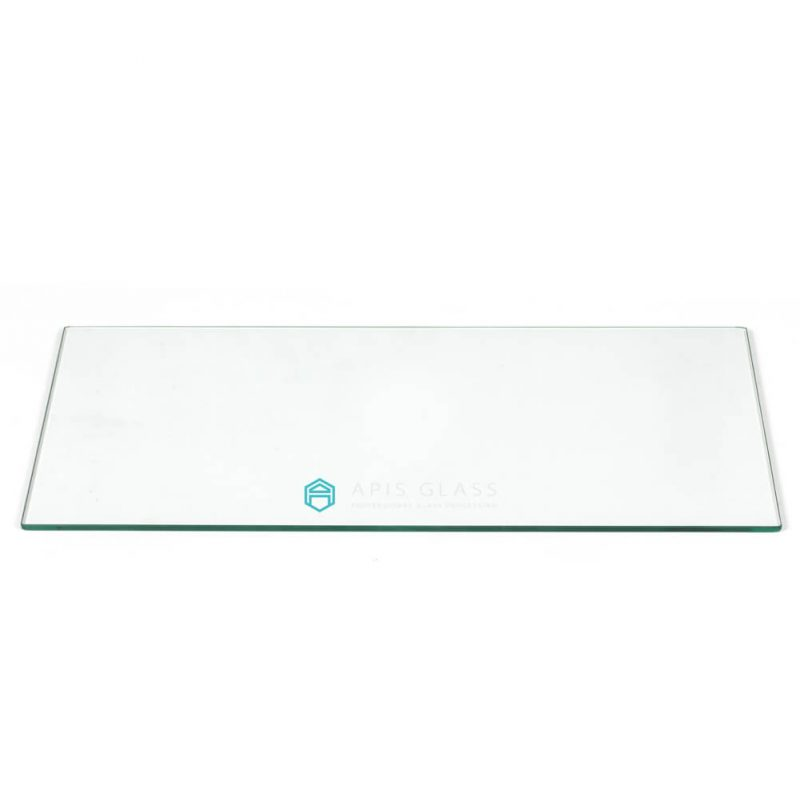 China Clear  Flat Polished Edge Toughened Rectangle Table Top Glass Wholesale