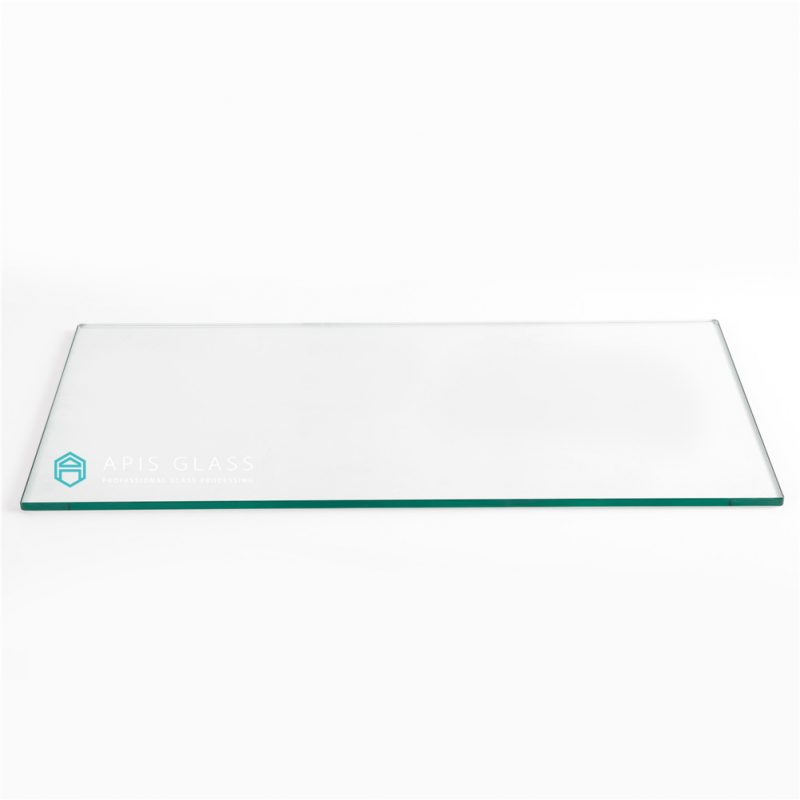 China 6mm Flat Polished Edge Tempered Rectangle Table Top Glass Wholesale